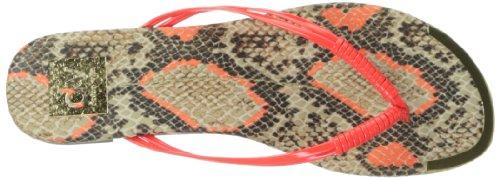 Dv Por Dolce Vita Chanclas Dacy Para Mujer Neón / Naranja / Serpiente