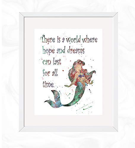 Amazon.com: Ariel with Quote Prints, The Little Mermaid ...