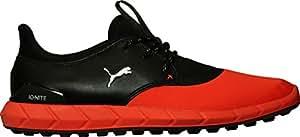 Puma Ignite Spikeless Sport Golf Shoes Red/Black 8 Medium