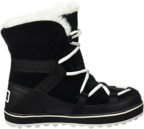 Donna black Glacy Da Shortie Neve Stivali 010 Explorer Nero Sorel 18HwqYH