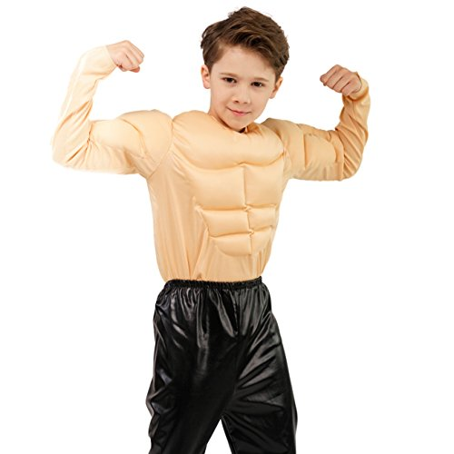 (DSplay Kids Boy Muscle Shirt Costume)