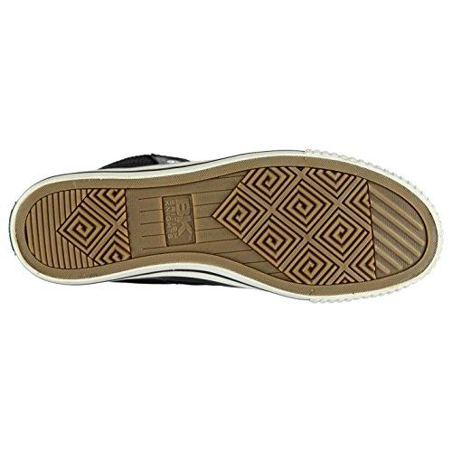 British Knights Hombre Opie Cremallera Hi Top Canvas Zapatos Cordones Zapatillas Multicolor