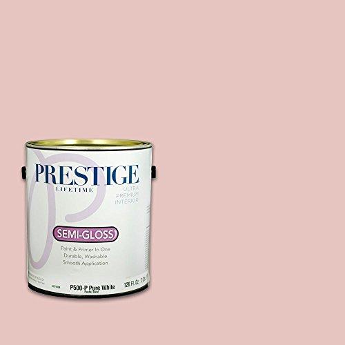 (Prestige Interior Paint and Primer in One, 1-Gallon, Semi-Gloss, Rose Quartz)