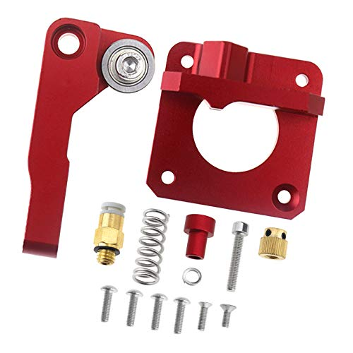 SING F LTD RED Right Hand Extruder Drive for CR-10 3D Printer Upgraded Replace Aluminum Frame Block MK8 Feed Base 1.75mm Filament