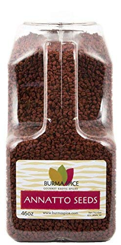 Annatto Seeds : Pure Natural Whole Nutty, Mild Pepper Flavor : Kosher Certified (46oz.)