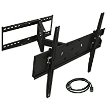 Mount-It! TV Wall Mount Bracket Full Motion Arm Center and Corner Installation, Tilt, Extend, Articulating, Fits up to 65 Inch 4K LED LCD OLED TV, Heavy Duty 110 Lb Capacity (MI-346L)
