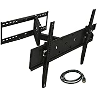Mount-It! Full Motion TV Wall Mount Bracket For Flat Screen 32 39 40 42 43 45 48 49 50 55 60 65 Inch 4K LCD LED OLED Plasma Televisions, VESA 600x400mm, 110 Lb Capacity, Black (MI-346L)