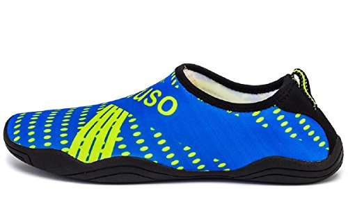 Aqua Quick Women 47 greey Walking Driving Sports Barefoot for Water Shoes Men Rainrop Yoga Dry Blue 35 Beach wx0qSZXf