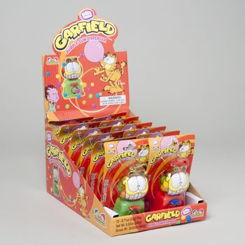 BUBBLE GUM DISPENSER GARFIELD .71 OZ IN 12CT COUNTER DISPLAY, Case Pack of 144 by DollarItemDirect