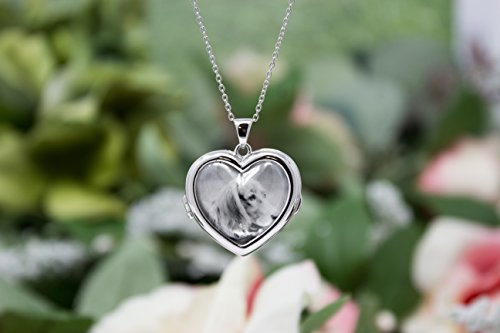Sterling Silver-Glass-Custom Photo Locket Necklace-18-inch chain-The Nina by With You Lockets by With You Lockets (Image #3)