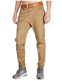 ITALY MORN Men's Jogger Casual Chino Pants Flat Front Stretch Boy Slim Fit