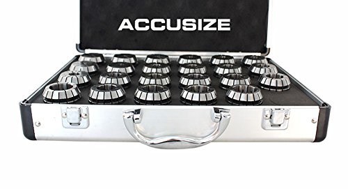 AccusizeTools - ER-40 SET 23pcs/set 1/8''-1'' in Fitted Strong Box, #0223-0935 by Accusize Industrial Tools