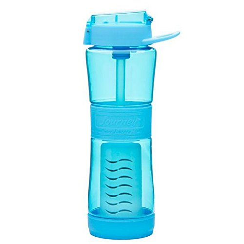 Sagan Life Journey Water Filter Bottle, BPA Free Water Purifier Bottle, Water Bottle With Filter Purifies 250 Gallons, Camping, Travel, Health, Emergency Preparedness, 24 Fluid Ounce - Sky Blue
