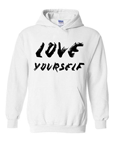 Artix Love Yourself in Black Unisex Hoodie Sweatshirt XX-Large White