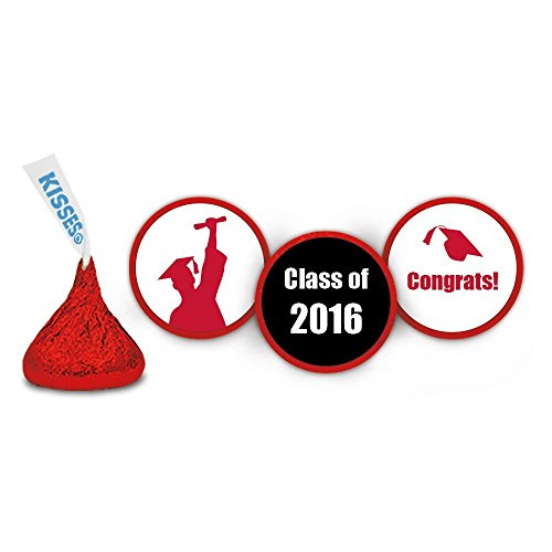 216 Class of 2016 Graduation Stickers for Kisses and Rees...