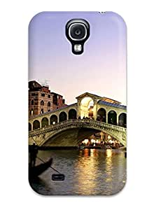 David J. Bookbinder's Shop High Quality Rialto Bridge Grand Canal Italy Case For Galaxy S4 / Perfect Case