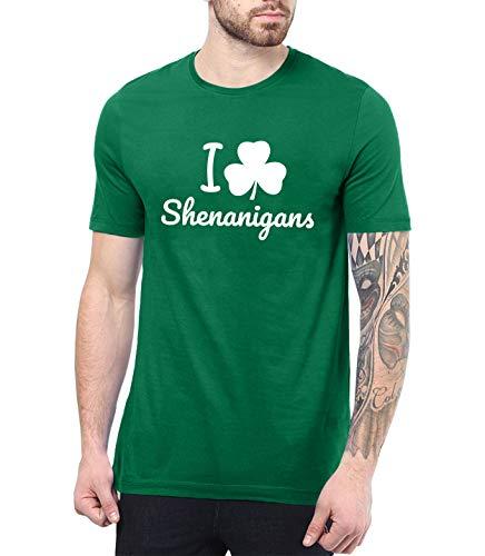 Green Adult St Patricks Day Shirt - Irish Shirts Men | Shenanigans, 2XL