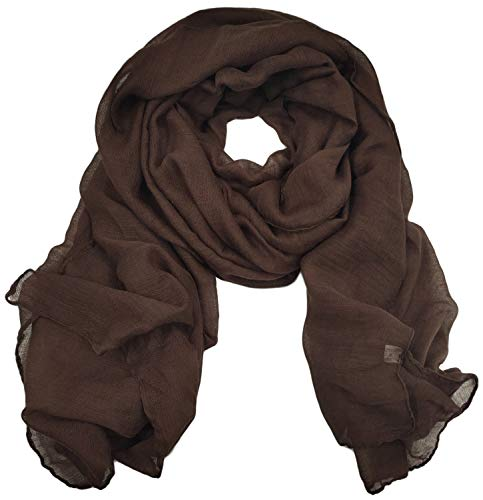 Woogwin Women's Cotton Scarves Lady Light Soft Fashion Solid Scarf Wrap Shawl