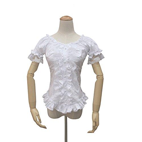 Shaper Corset Women Victorian Gothic Lolita Blouse Steampunk Shirt Theatre Clothing (3XL)