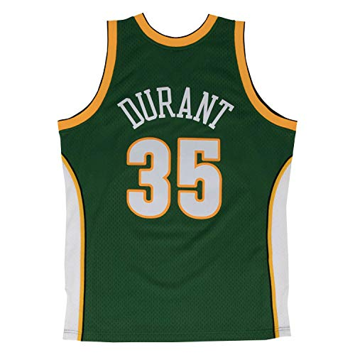 (Mitchell & Ness Men's Seattle Supersonics Kevin Durant Swingman Jersey, Green,)