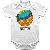 Body Bebê Led Zeppelin Balão, Let's Rock Baby, Branco