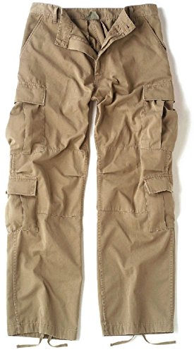 Khaki Pants Vintage Paratrooper Fatigues - Bellawjace Clothing Camouflage Vintage Military Paratrooper Tactical BDU Fatigue Pants