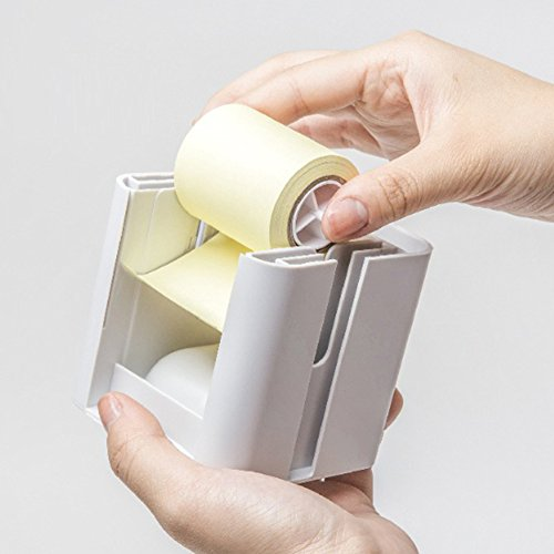 All-in-One Pop-up Note & Roll Sticky Note Dispenser Assorted Index Flag Dispenser Paper Clip Tub Desk Organizer (Black) by Gifti (Image #4)