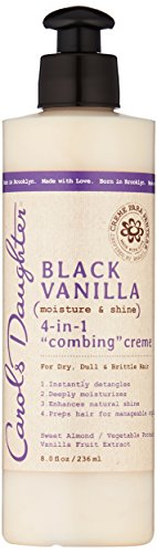 Carol's Daughter Black Vanilla Moisture & Shine 4-in-1 Combing Creme For Dry Hair and Dull Hair, with Sweet Almond Oil and Vanilla Fruit Extract, Hair Detangler, 8 fl oz (Packaging May Vary) -  23487