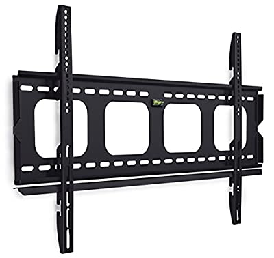 Mount-It! TV Wall Mount Bracket Premium Low-Profile Fixed for 42-70 inch LCD, LED, 4K or Plasma Flat Screen TVs - Super-strength Load Capacity 220 lbs, TV Stays 1 inch from the Wall, Max VESA 800x400