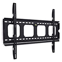 Mount-It! Low Profile TV Wall Mount Bracket Premium Fixed for 42 - 70 inch LCD, LED, 4K or Plasma Flat Screen TVs - Super-strength Load Capacity 220 lbs, TV Stays 1 inch from the Wall, Max VESA 800x400 (MI-305L)