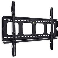 Mount-It! Fixed TV Wall Mount Bracket Slim Low-Profile for 50, 55, 60, 65, 70, 75, 80 Inch Flat Screen TVs, Heavy-Duty 220 lbs Capacity, Ultra-Slim Design Flush 1 inch Profile, VESA 800x400, 600x400