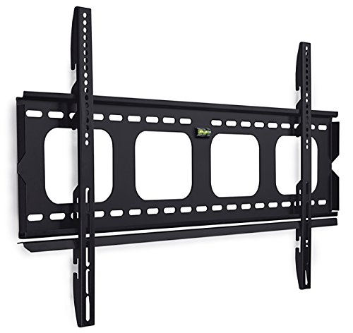 Mount-It! Fixed TV Wall Mount Bracket Slim Low-Profile for 50, 55, 60, 65, 70, 75, 80 Inch Flat Screen TVs, Heavy-Duty 220 lbs Capacity, Ultra-Slim Design Flush 1 inch Profile, VESA 800x400, 600x400 (Slim Tv Mounts For Flat Screens)