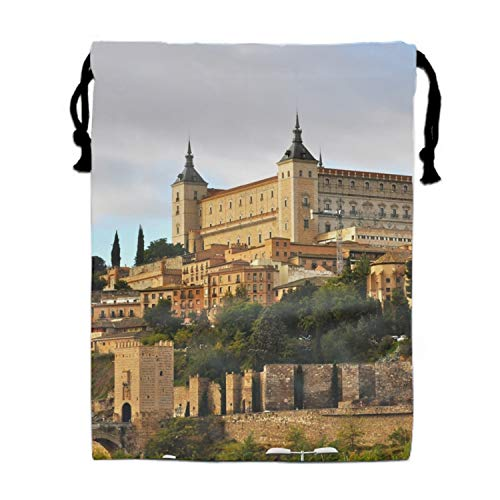 Goodie Bags for Kids Spain Castle Alcazar Toledo Drawstring Gift Bags for Bdays, Parties + More -