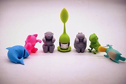 Best Prices! Tuckers Tea Cute Tea Infuser Animals, Bright Colors, 7-Pack Diffuser.