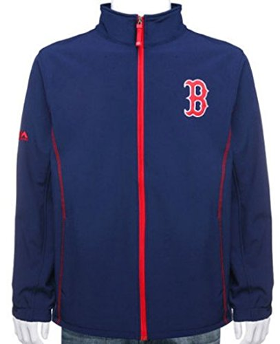 VF Boston Red Sox MLB Majestic Mens Apex Bonded Jacket Navy Blue Big & Tall Sizes (MT) ()