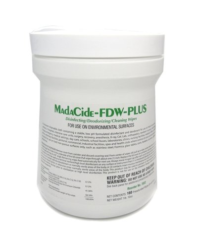 Tattoo Supply MADACIDE-FD WIPES 160 (''6x6.75'') Medical Disinfectant Supplies