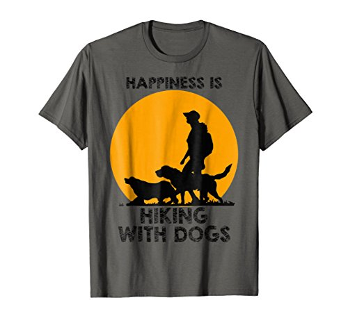 Happiness Is Hiking With My Dogs Cool T-shirt