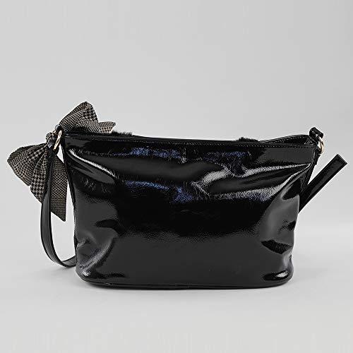 Time Shopper L con 11x20x28 para Bolso W Negro x Tachuelas For x cm Mujer Negro H dUqCd