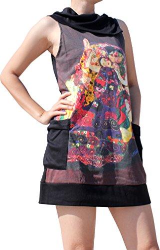 Raan Pah Muang Gustav Klimt The Virgin Collar Fold Dress, Large