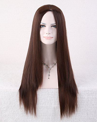 Cool2day® Cool2day Zippe 68cm Long Straight Hair Cosplay Party Full Wig+Wig Cap(Model:JF011578) (Dark Brown)