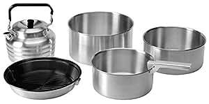Vango ACXCOOK A25U08 - Juego de utensilios de cocina para camping (aluminio), color plateado