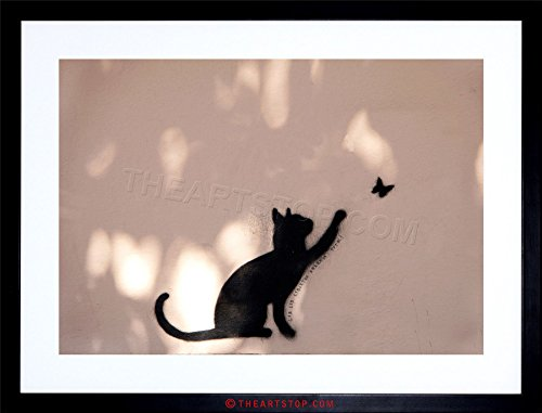 - The Art Stop Photo CAT Butterfly Silhouette Graffiti Framed Print F97X2905