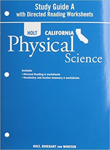 Holt Science & Technology California: Study Guide A With Directed ...