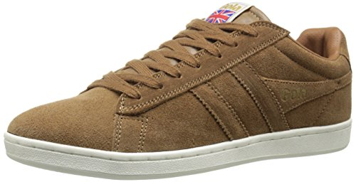 Gola Men's Equipe Suede Fashion Sneaker, Tobacco, 7 M US