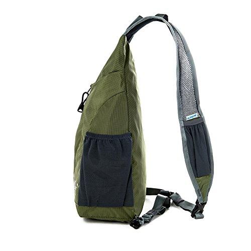 aonijie Unisex Schulter Cross-Body-Bags Messenger Bag Reisetasche Outdoor Sporttasche Triangle Freizeit Bergsteigen Tasche Armeegrün