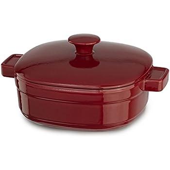 Elegant KitchenAid KCLI30CRER Streamline Cast Iron 3 Quart Casserole Cookware    Empire Red