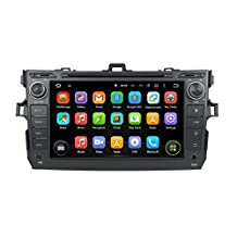 XTTEK 8 inch HD 1024x600 Multi-touch Screen in dash Car GPS Navigation System for Toyota Corolla 2006-2011 Quad Core Android DVD Player+Bluetooth+WIFI+SWC+Backup Camera+North America Map