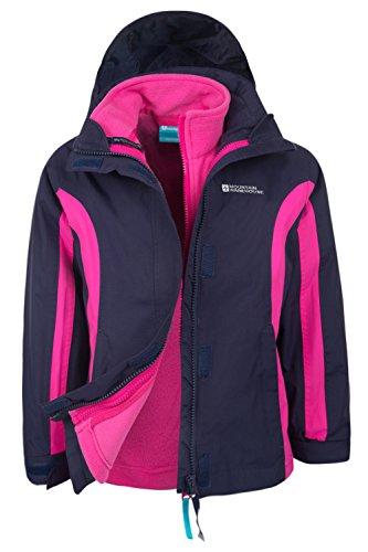 Mountain Warehouse Lightning 3 In 1 Kids Jacket - All Season Coat Navy 7-8 Years