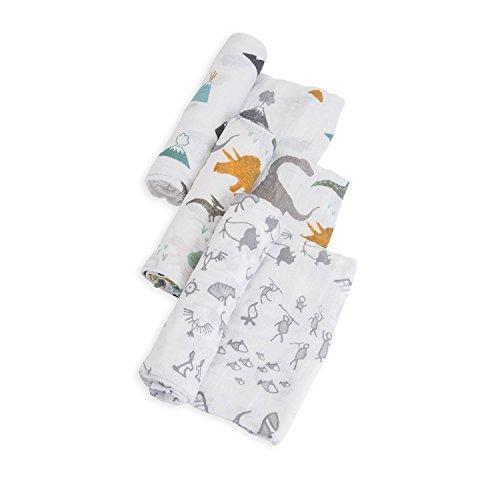 Little Unicorn Cotton Muslin Swaddle Blankets set Of 3 - Din