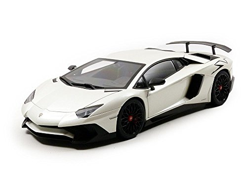 Lamborghini Aventador Lp750 4 Sv Bianco Canopus And Pearl White 1 18